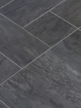 Luxury Black Vinyl Floor Tiles