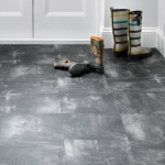 Black worn laminate flooring hallway