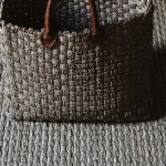 Natural fibre carpet and bag