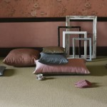 Natural fibre carpets pink interior room