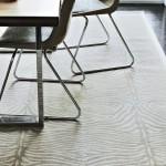 Zebra pattern cream rug