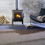 Carpet tiles log burner cosy sitting room