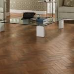 Vinyl parquet flooring