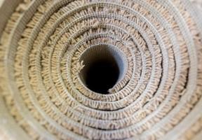 Cream roll of carpet